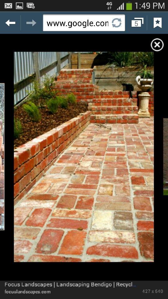 Love recycled bricks!!!
