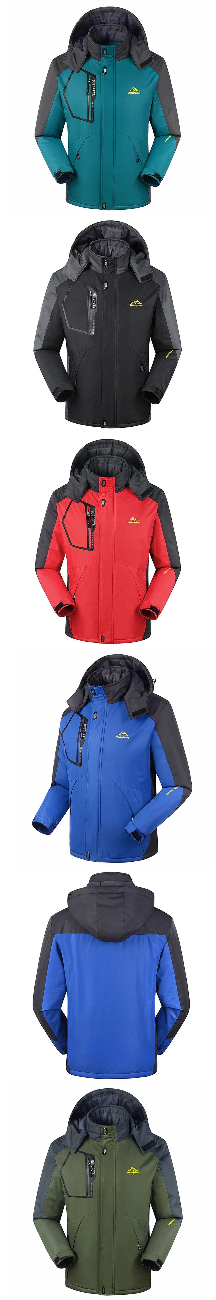 Fit -35 Plus Size L-6XL 7XL 8XL Max Chest 150CM Warm Padded Coat For men Winter Jacket With Hooded Waterproof Windproof