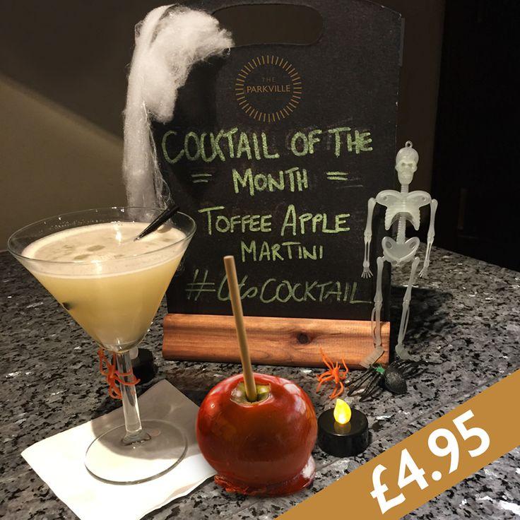 Toffee Apple Martini!    #parkvillehotel #cocktailofthemonth #letsCOCKTAIL #stoli #vodka #butterscotchschnapps #halloween #cocktail #lisinipubco #blantyre #martini