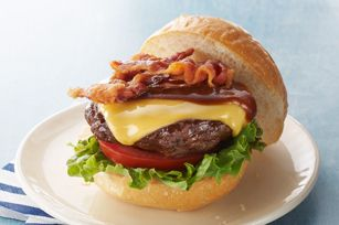 This is my favorite ever. Its a Barbecue Bacon Cheeseburger. The thing that makes the burger is the bacon. NM