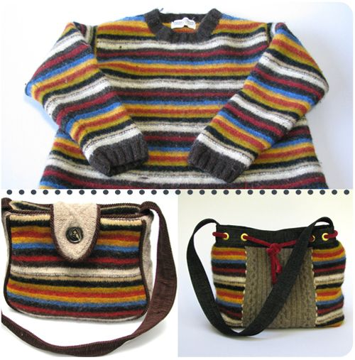 sweater into purse