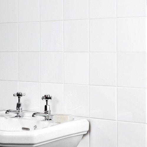 Glossy White (15x15cm) kylppäri alaosa