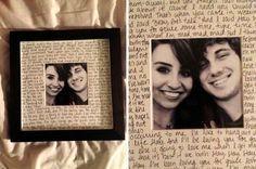manualidades para mi novio - cuadro carta foto                                                                                                                                                                                 Más