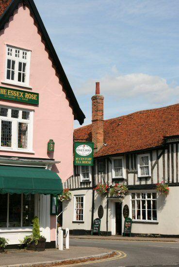 The Essex Rose Tea House and Marlborough Head Inn, Dedham, Essex, England