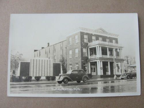 1940 S Real Photo Postcard Romeo Michigan Hotel