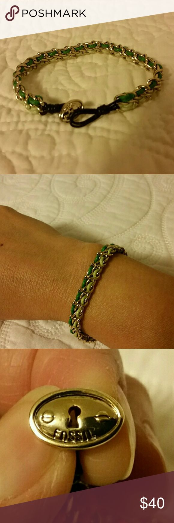 """JUST IN""  Fossil Bracelet NWOT  Never worn except to model  Comes with the dust bag 9/6/17 Fossil Jewelry Bracelets"
