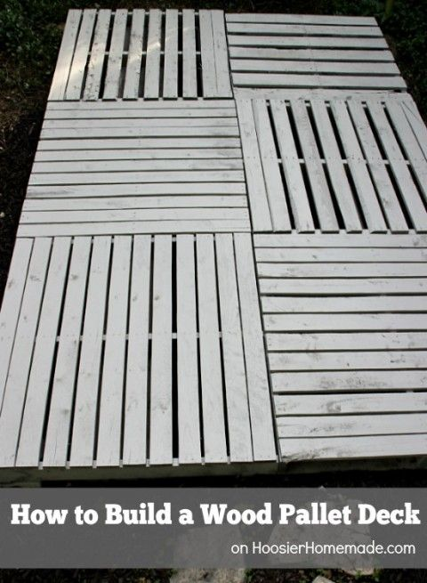 How to build a wood pallet deck hoosier homemade autos post for How to make a pallet deck