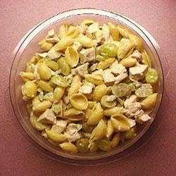 Coronation chicken pasta salad