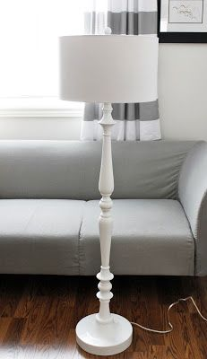 AM Dolce Vita, Turned Floor Lamp painted in white lacquer from HomeSense at a cheap-and-chic price of $80.