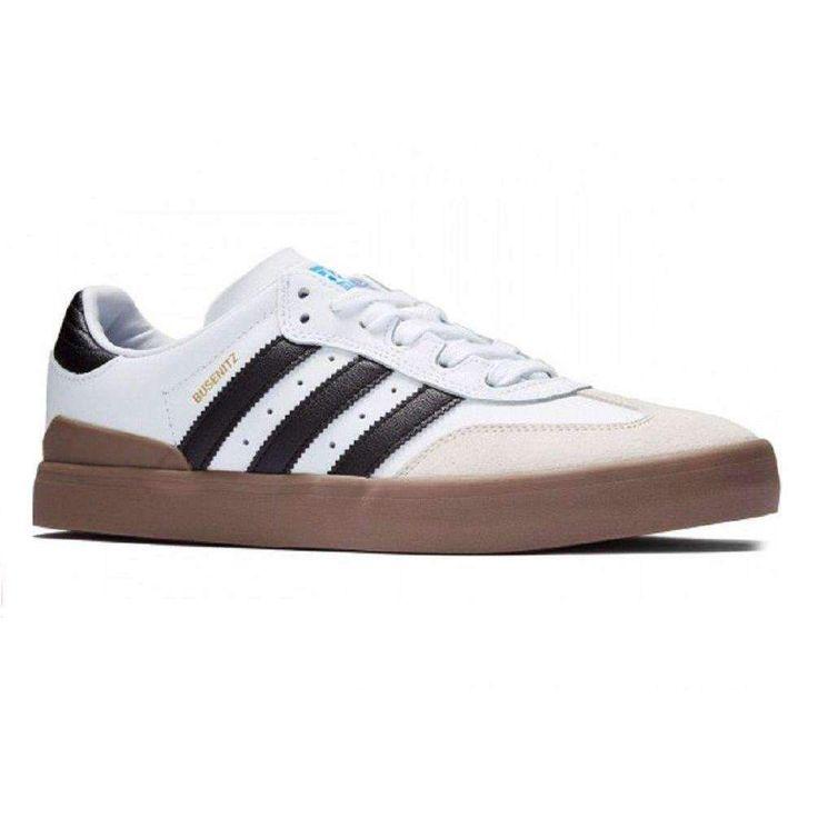 Adidas Busenitz Vulc Samba Edition (White/Core Black/Bluebird) Men's Skate  Shoes