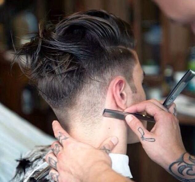 razor cut :: #haircut #menscut #hair I find this so fascinating..