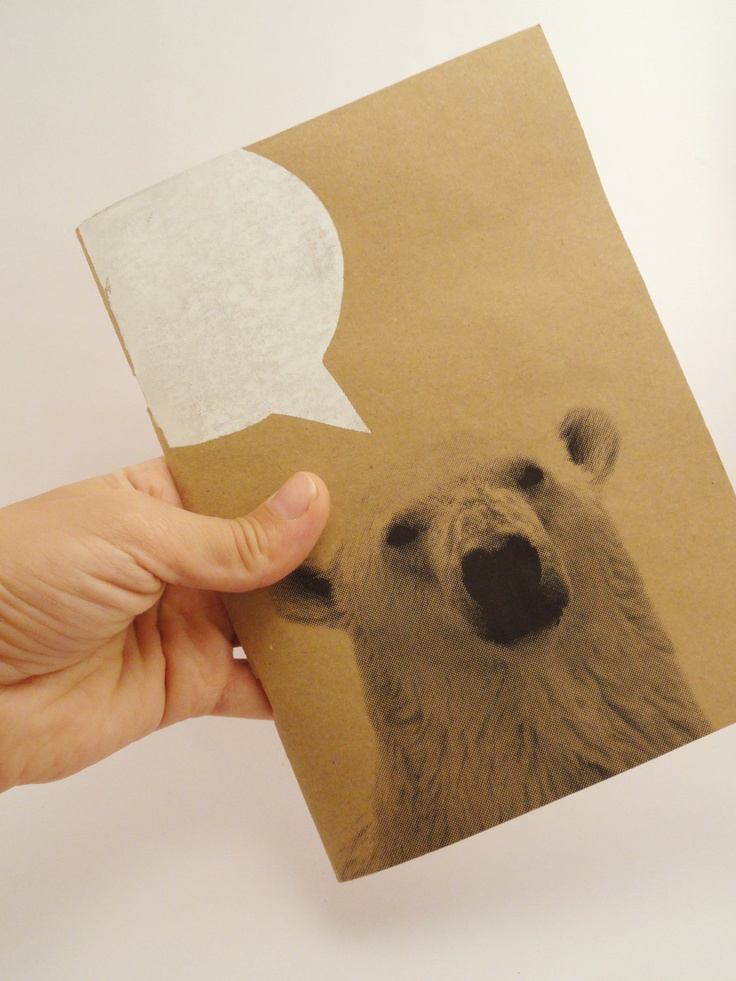 polar bear notebook hand bounded by triskashop