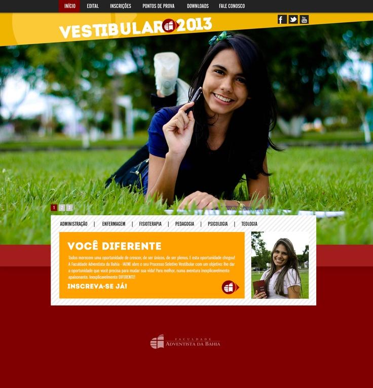 Site Vestibular 2013 | Faculdade Adventista da Bahia