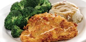 How about a tasty bite of Honey-Drizzled Southern Fried Chicken, another delicious American O'riginal from O'Charley's.  This chicken was delicious....but be advised....the chicken alone has 1080 calories!!!