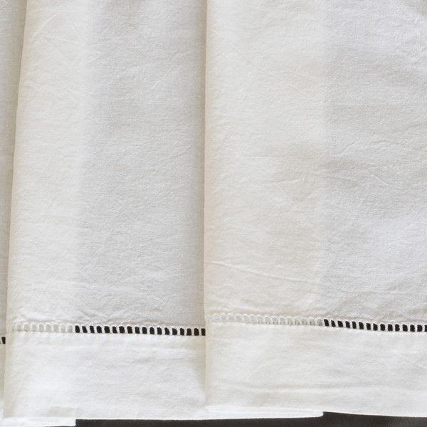 Gorgeous ladder work hem vintage Metis sheets, unused, from France.