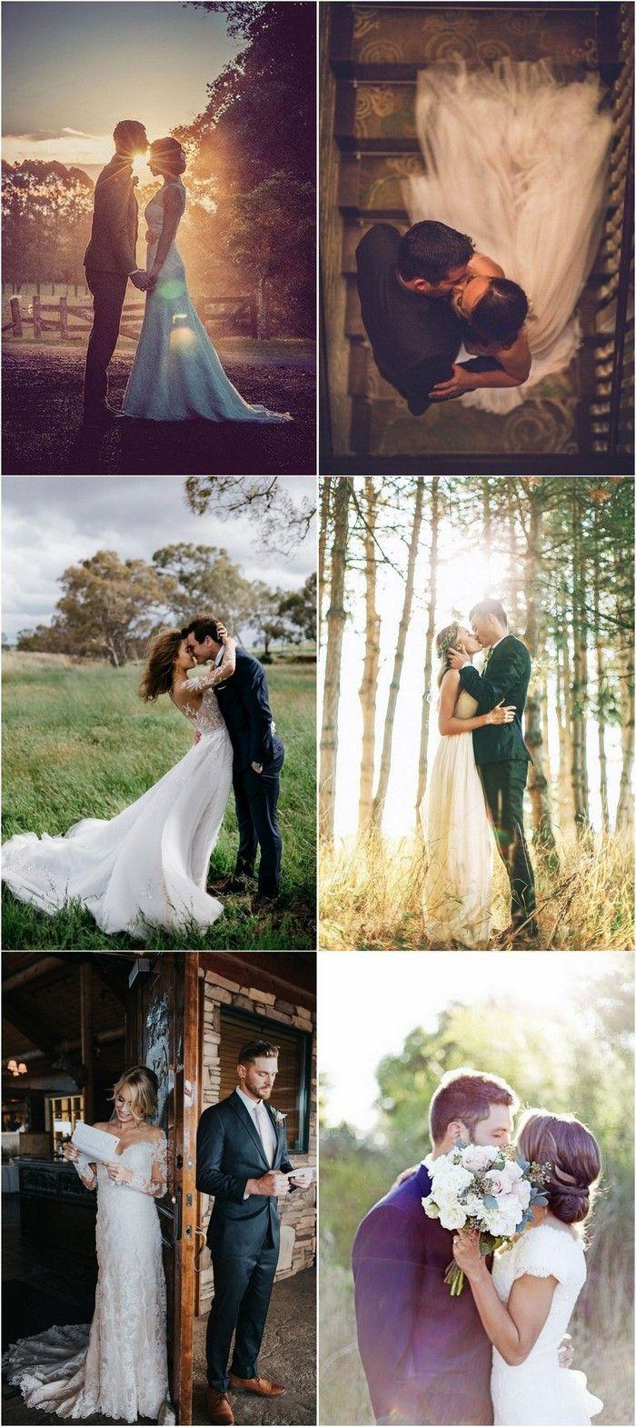 Braut und Bräutigam Hochzeit Foto Ideen #weddingphotos #weddingideas – #Braut #…