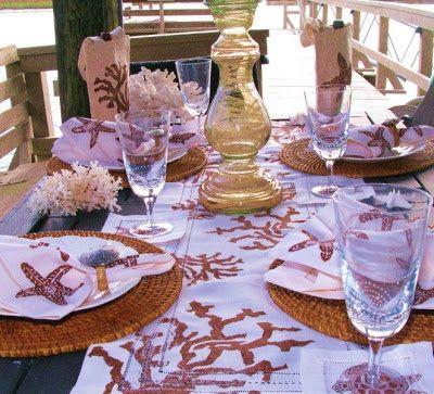 Wonderful Tablescape Ideas. Table LinensCoastal ...