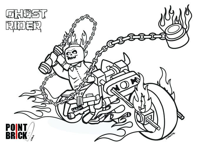 Coloring Pages Lego Ghost Rider Lego Coloring Pages Ghost Rider Marvel Lego Ghost Rider