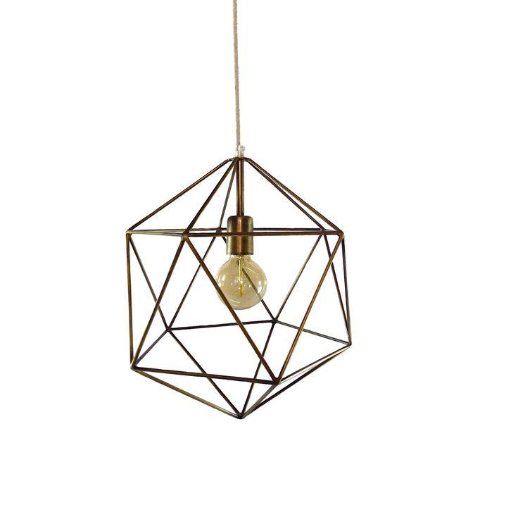 Bronze Geometric Pendant Light Handmade Hanging Light Cage Polyhedron Industrial Lighting Chandelier Ceiling Lamp Geometric Globe Chandelier by LightingAlchemy on Etsy https://www.etsy.com/listing/398891385/bronze-geometric-pendant-light-handmade