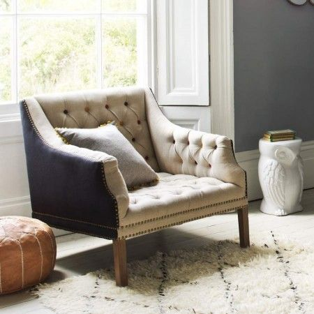 Bath Button Back Armchair with Coloured Buttons - Chairs & Armchairs - Furniture