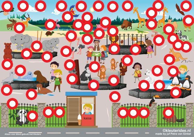 Interactieve praatplaat thema dierentuin, kleuteridee by juf Petra van Ginkel, met veel videos voor het digibord of de computer over dierentuin en de dieren