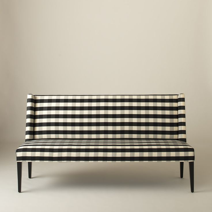 Lenox Bench - Windowpane Plaid