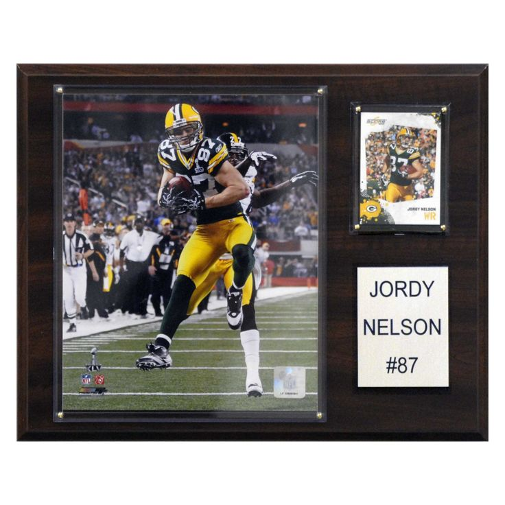 NFL 12 x 15 in. Jordy Nelson Green Bay Packers Player Plaque - 1215JNELSON