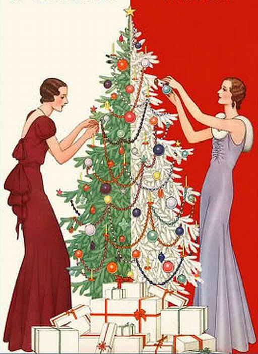 art deco: Christmas Cards, Holiday, Vintage Christmas, Christmas Illustration, Christmas Decorations, Deco Christmas, Artdeco, Art Deco, Merry Christmas