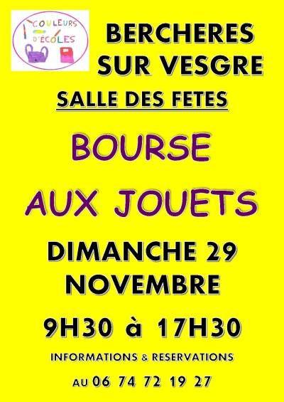 affiche BOURSE AUX JOUETS