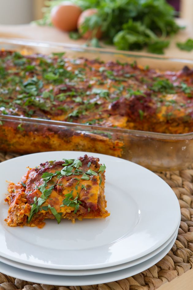 "Paleo Lasagna with Dairy-free Melty Cheese + Butternut Squash ""Noodles""…"