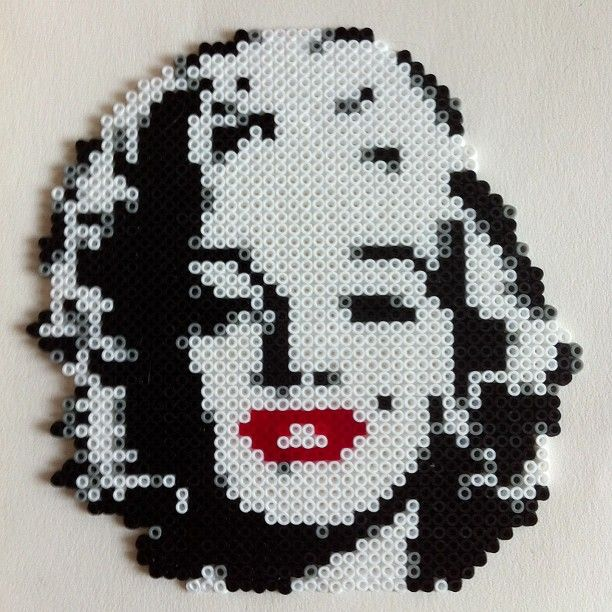 Marilyn Monroe hama mini beads by buryyourhead