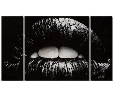Quadro su tela Labbra nere