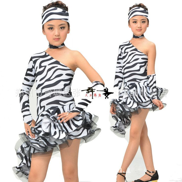 >> Click to Buy << Adult Child Latin dance costume zebra single sleeves latin dance dressAdult children latin dance competition dresses S-4XL #Affiliate