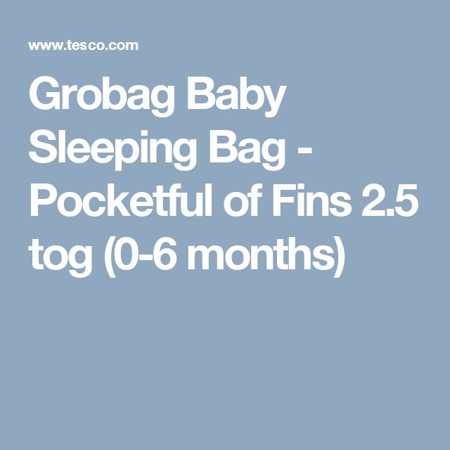Grobag Baby Sleeping Bag - Pocketful of Fins 2.5 tog (0-6 months)
