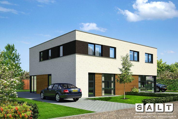 Moderne Woning voor woonwijk Over de Dijk te Heinkenszand (2-1 kap!) @heinkenszand #architectuur #modern #Zeeland