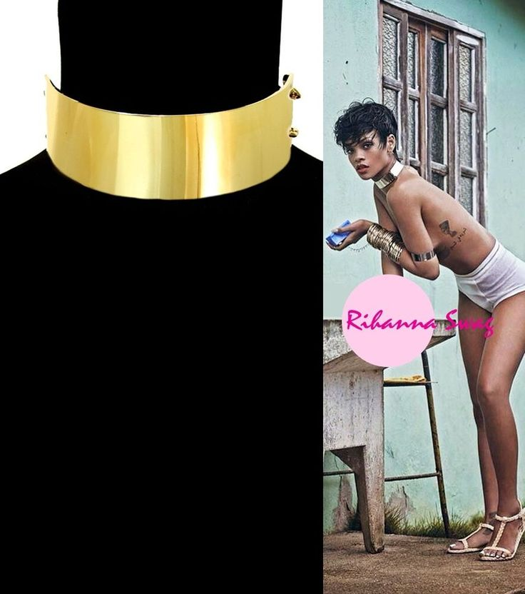 New Women Fashion Rihanna Swag Celebrity Style Chunky Gold Plate Chain Choker in Jewelry & Watches, Fashion Jewelry, Necklaces & Pendants | eBay