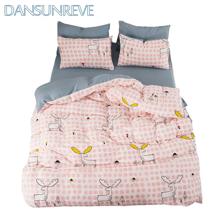 [$44-$55]Bed Cover Queen Chinese Bedding Sets Full Bed Set with Sheets Cartoon Bed Covers Twin Bedding Sets King Size Duvet Cover Set