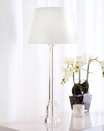 Crystal+Candlestick+Buffet+Lamp+at+Horchow.