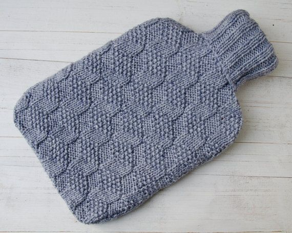 136 best hot water bottle covers knitting and crochet patterns knitted hot water bottle cosy in grey textured tumbling block pattern dt1010fo
