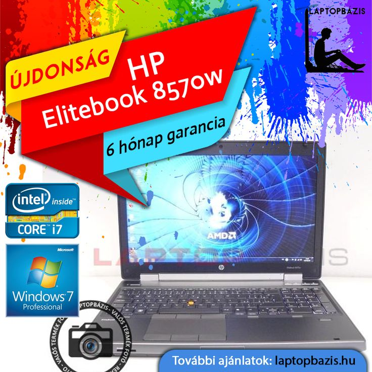 """HP Elitebook 8570w üzleti és gamer laptop, Intel Core i7-3360M, dual vga, 500 GB HDD, 8 GB RAM, 15,6"""" Full HD kijelző, webkamera, Win 7 Pro  Ár: 129 900.- Ft"""