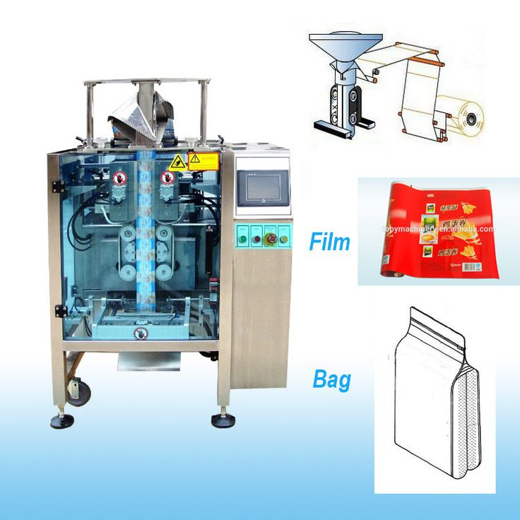 Automatic Stand-up Pouches Vertical Flat Bottom Bag 4-Side Seal Packaging Machines