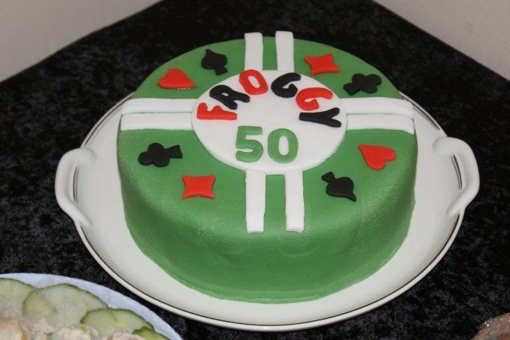 Poker inspired birthday cake