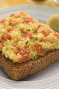 Photo de la recette Oeufs brouillés au saumon
