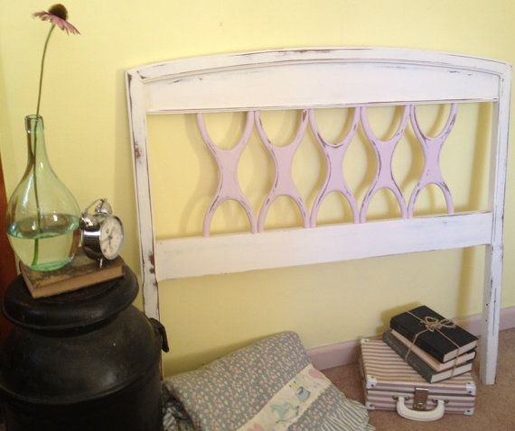 Painted Vintage Twin Headboard By Vintagehipdecor On Etsy