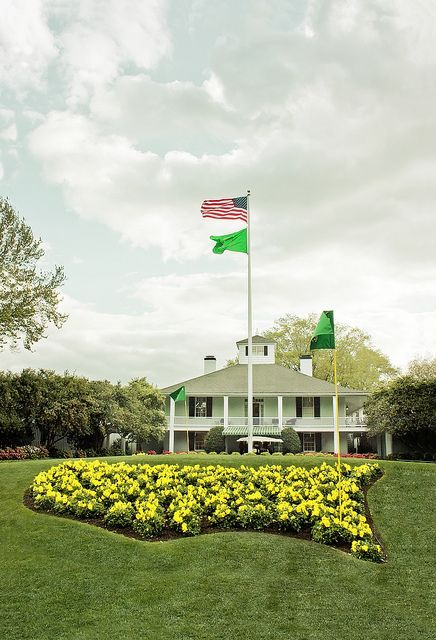 Clubhouse - Augusta National Golf Club - Masters Golf Tournament by Mike Fiechtner, via Flickr