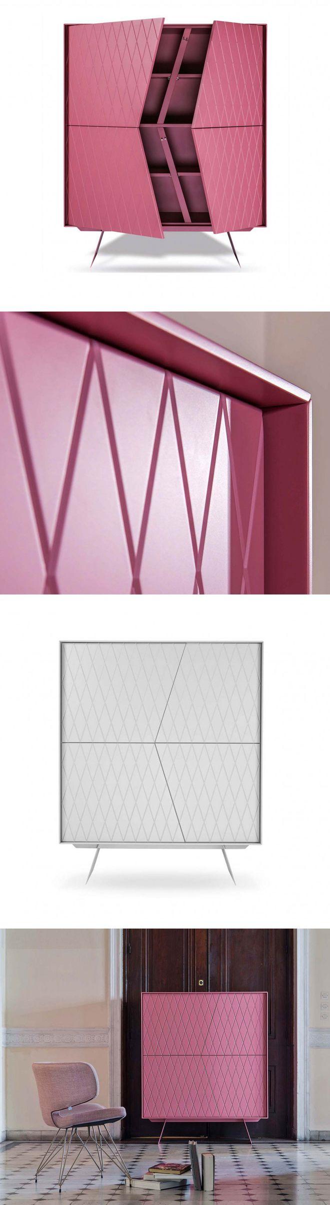 Das Highboard e-klipse von al2 hat 4 Türen und das Klassische Rautenmuster auf seiner Front.   #Kommode #chestofdrawers #Livarea #Wohnzimmer #livingroom #bedroom #Schlafzimmer #Esszimmer #diningroom #inspiration #interiordesign #interiordecorating #home #wohnen #einrichten #Designmöbel #modern #minimalistisch #Trend #wohntrend #wohnstil #al2