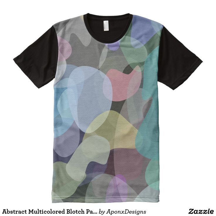 Abstract Multicolored Blotch Pattern