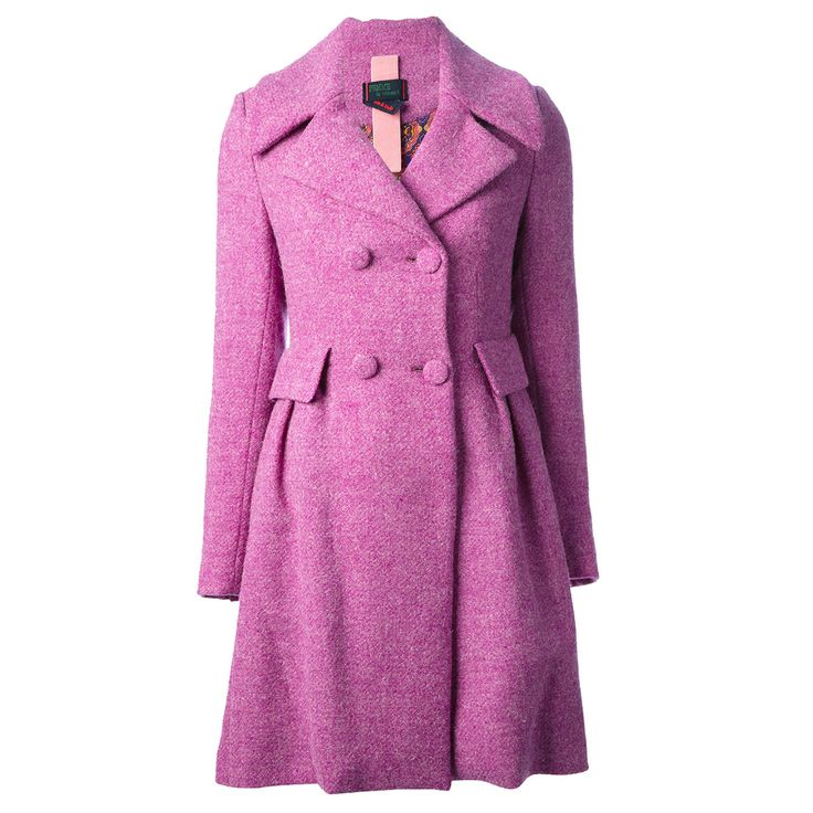 Femme double breasted coat in Radiant Orchid  - The Cut