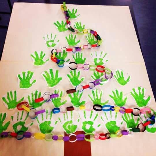 Kerstboom groepswerk