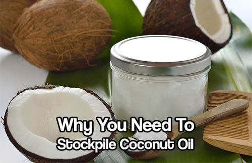 Why You Need To Stockpile Coconut Oil. The benefits of coconut oil outweigh the cost of it. You can do so much with it. Stockpile this for use later on.